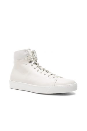 JOHN ELLIOTT Leather High Top Sneakers in White. - size 40 (also in 41,42)
