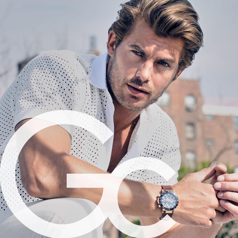 Richard Guaty photographs Jacey Elthalion for GC Watches' fall-winter 2018 campaign.