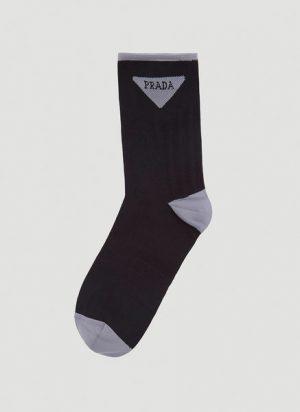 Jacquard Triangle Logo Socks
