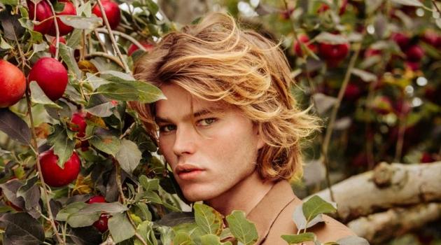 Jordan Barrett Embraces Rustic Autumn Style with VMAN