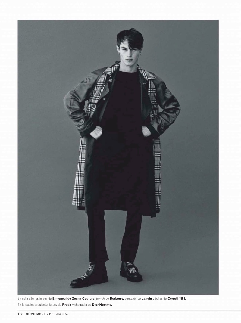 The Good Mix: Kit Butler Goes Trendy for Esquire España