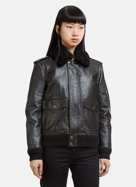Leather Heaven Aviator Jacket