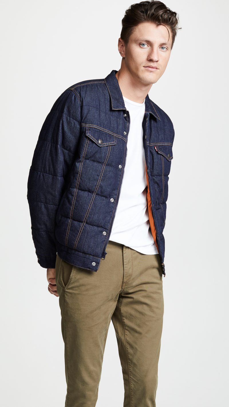 Levi's Red Tab Down Puffer Trucker Jacket
