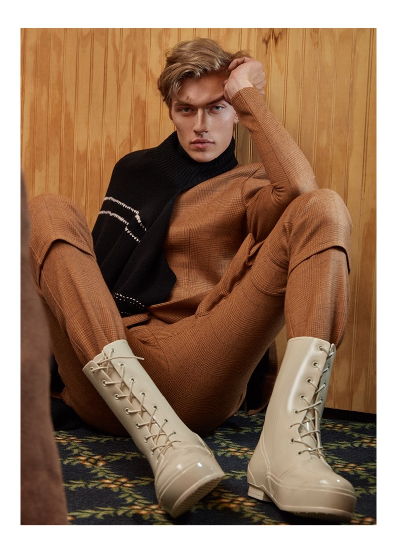 Lucky Blue Smith stars in a new cover story for Vogue Man Arabia.