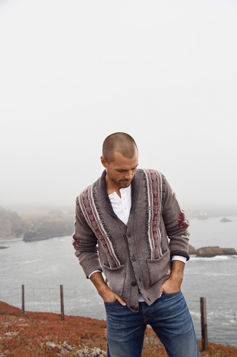 Venturing outdoors, Zac Taylor fronts Lucky Brand's holiday 2018 campaign.