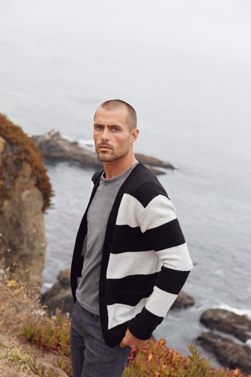 Zac Taylor appears in Lucky Brand's holiday 2018 campaign.