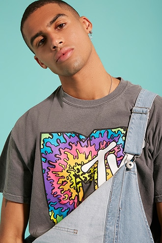 MTV Graphic Tee by 21 MEN Light Grey/multi