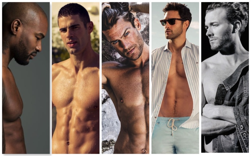 Pictured left to right: Tyson Beckford, Chad White, Jason Morgan, Noah Mills, and Brad Kroenig