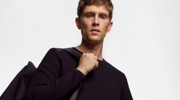 Marc O'Polo enlists Mathias Lauridsen to model its Black Fashion Week capsule collection.