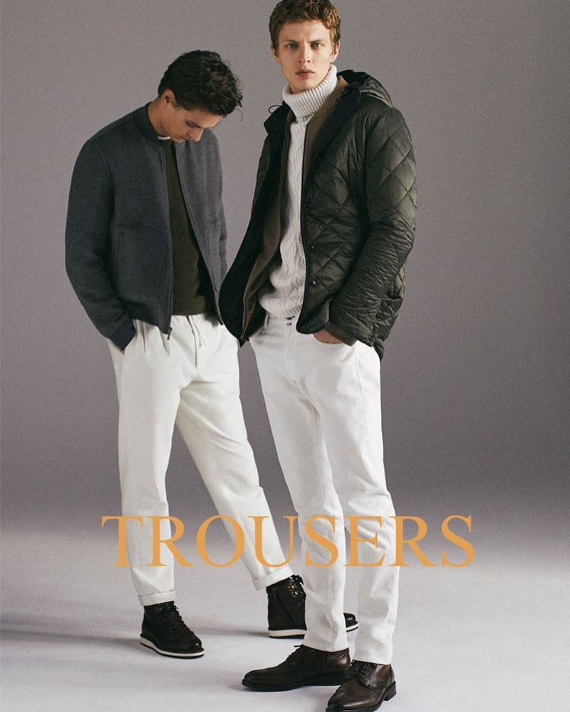 Massimo Dutti enlists Jegor Venned and Tim Schuhmacher to star in its holiday 2018 gift guide.