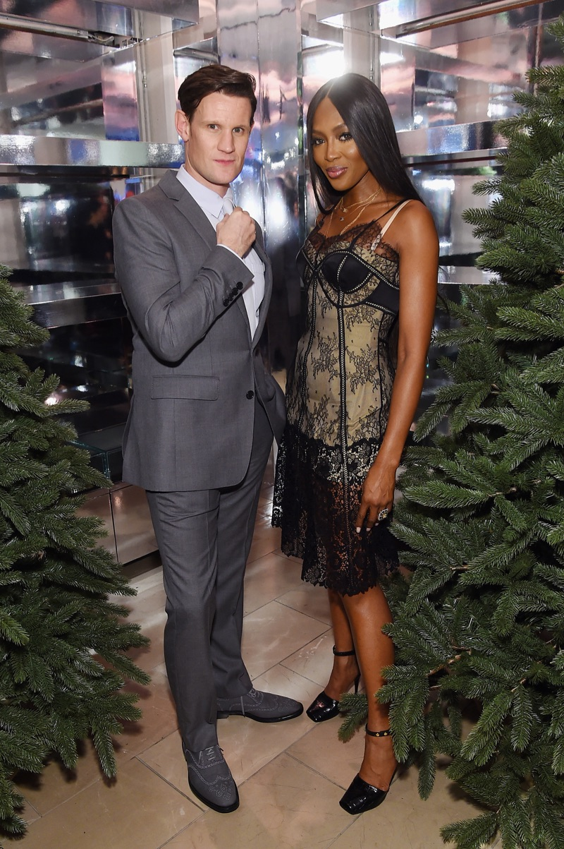 November 2018: Matt Smith and Naomi Campbell host an event in New York City to celebrate Burberry's holiday 2018 campaign.