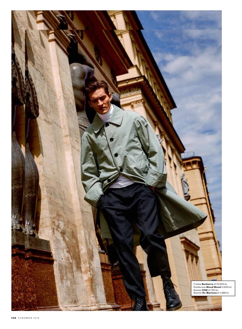 Matvey Lykov Inspires in Chic Fall Styles for Euroman