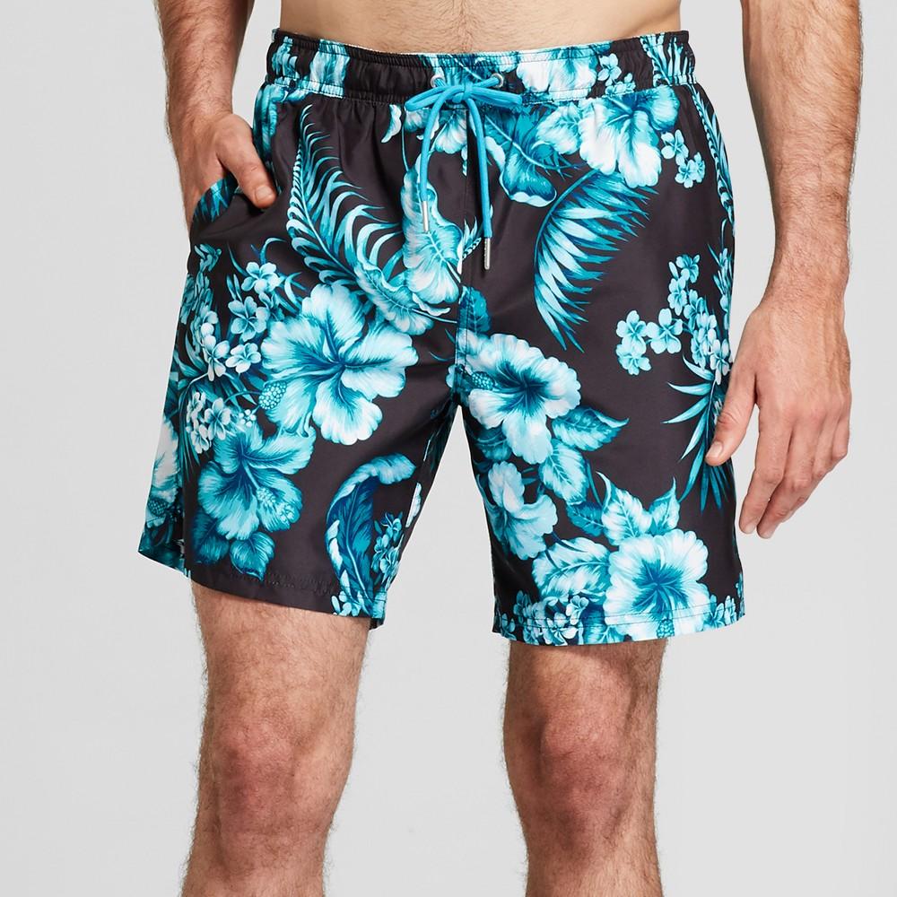 6742978d84 Men's 7 Tropical Floral Print Swim Trunks – Goodfellow & Co Black XS | The  Fashionisto