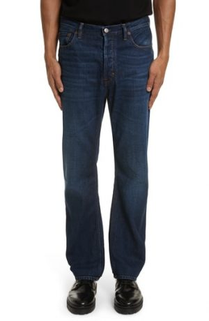 Men's Acne Studios Land Classic Straight Leg Jeans, Size 33 - Blue