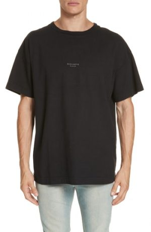 Men's Acne Studios Logo Graphic T-Shirt, Size Medium - Black