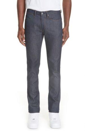 Men's Acne Studios Max Slim Straight Leg Jeans, Size 30 x 34 - Blue