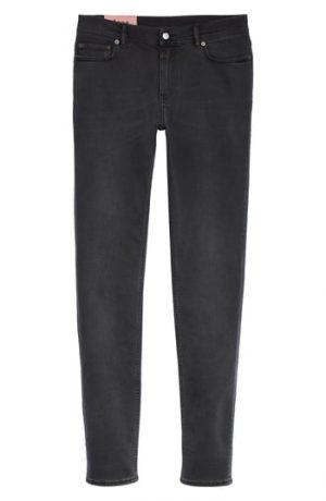Men's Acne Studios Straight Leg Jeans, Size 29 x 34 - Black