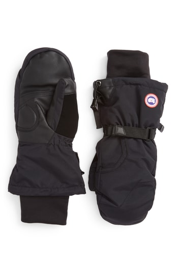 Men's Canada Goose Arctic Down Mittens, Size Small - Black