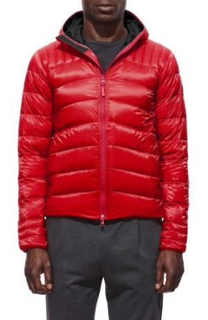 Men's Canada Goose Brookvale Slim Fit Hooded Down Jacket, Size Small - Red