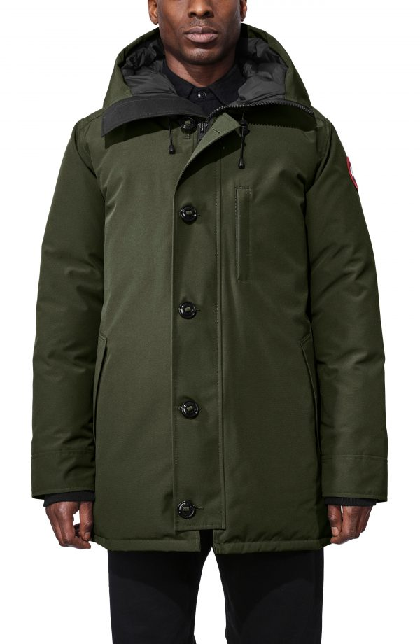 Men's Canada Goose Chateau Slim Fit Down Parka, Size Small - Green