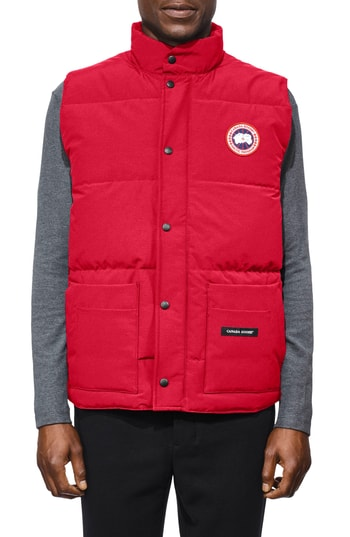 Men's Canada Goose Freestyle Regular Fit Down Vest, Size X-Small - Red