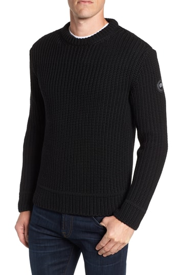 Men's Canada Goose Galloway Regular Fit Merino Wool Sweater, Size Small - Black