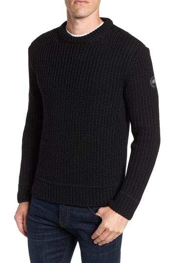Men's Canada Goose Galloway Regular Fit Merino Wool Sweater, Size Small - Black