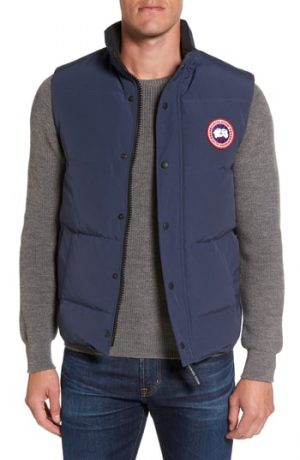 Men's Canada Goose Garson Regular Fit Quilted Down Vest, Size Small - Blue