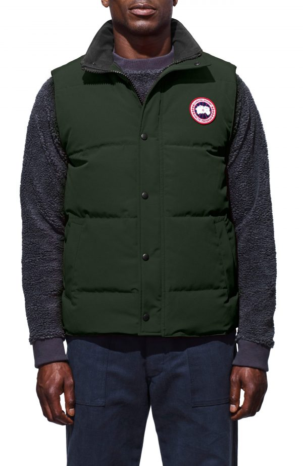 Men's Canada Goose Garson Regular Fit Quilted Down Vest, Size Small - Grey