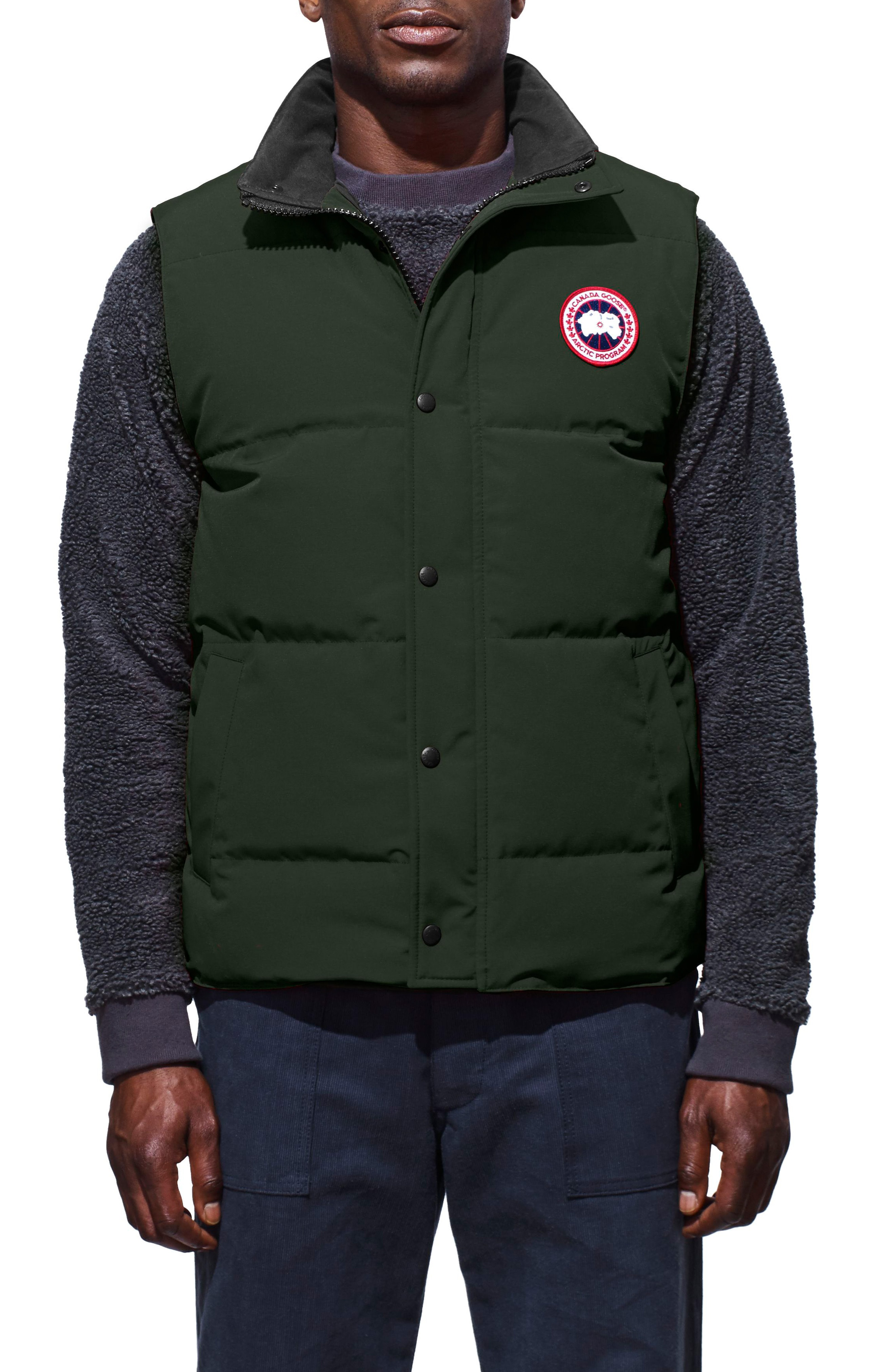c2d6ff6b5847ac Men's Canada Goose Garson Regular Fit Quilted Down Vest, Size Small – Grey