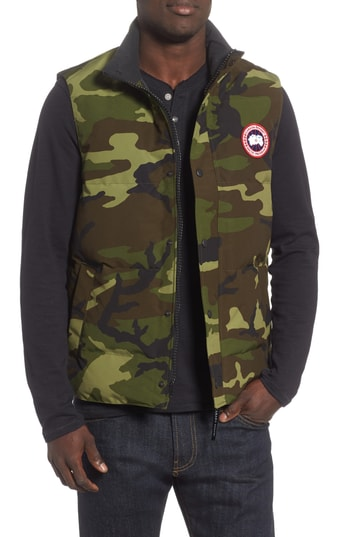 Men's Canada Goose Garson Regular Fit Quilted Down Vest, Size X-Small - Green