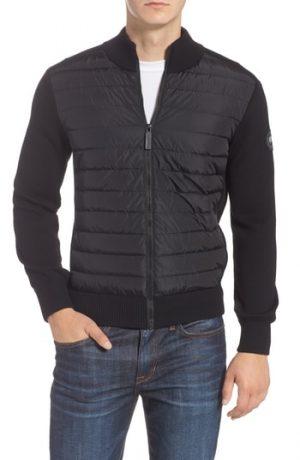 Men's Canada Goose Hybridge Slim Fit Down Front Knit Jacket