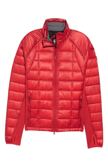 Men's Canada Goose 'Hybridge(TM) Lite' Slim Fit Packable Jacket, Size Small - Red