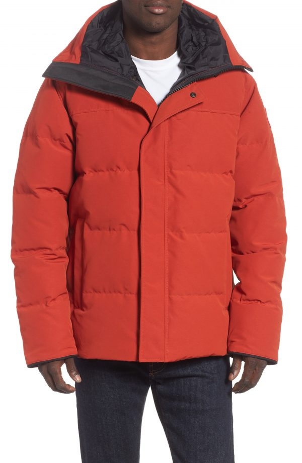Men's Canada Goose 'Macmillan' Slim Fit Hooded Parka, Size Large - Red