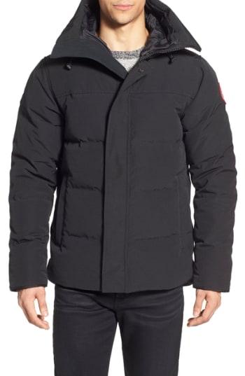 Men's Canada Goose 'Macmillan' Slim Fit Hooded Parka, Size X-Small - Black