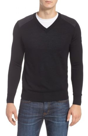 Men's Canada Goose Mcleod V-Neck Regular Fit Merino Wool Sweater