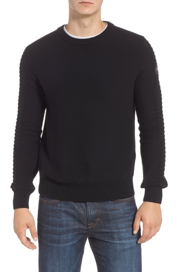 Men's Canada Goose Paterson Regular Fit Merino Sweater, Size Small - Black