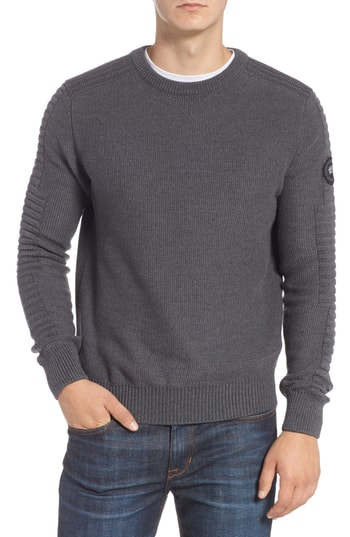 Men's Canada Goose Paterson Regular Fit Merino Sweater, Size Small - Grey