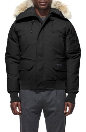 Men's Canada Goose Pbi Chilliwack Regular Fit Down Bomber Jacket With Genuine Coyote Trim