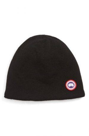 Men's Canada Goose Standard Wool Blend Beanie - Black