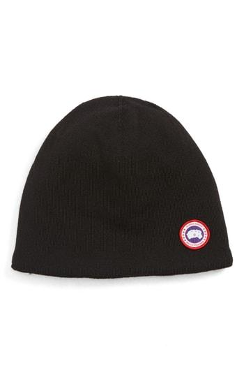 Men's Canada Goose Standard Wool Blend Beanie - Black