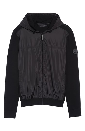 Men's Canada Goose Windbridge Regular Fit Hooded Sweater Jacket, Size Small - Black
