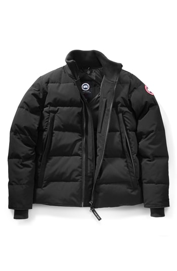 Men's Canada Goose 'Woolford' Slim Fit Down Bomber Jacket, Size X-Small - Black