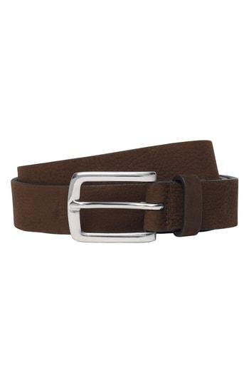 Men's Club Monaco Laird Suede Belt, Size 32 - Brown
