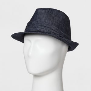 Men's Dark Chambray Fedora - Goodfellow & Co Blue M/L