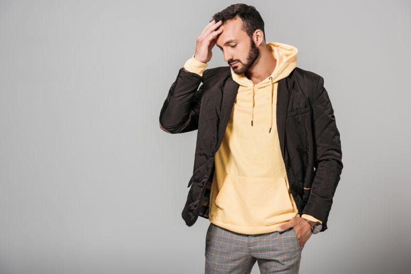 Men's Fashion Image Hoodie Blazer