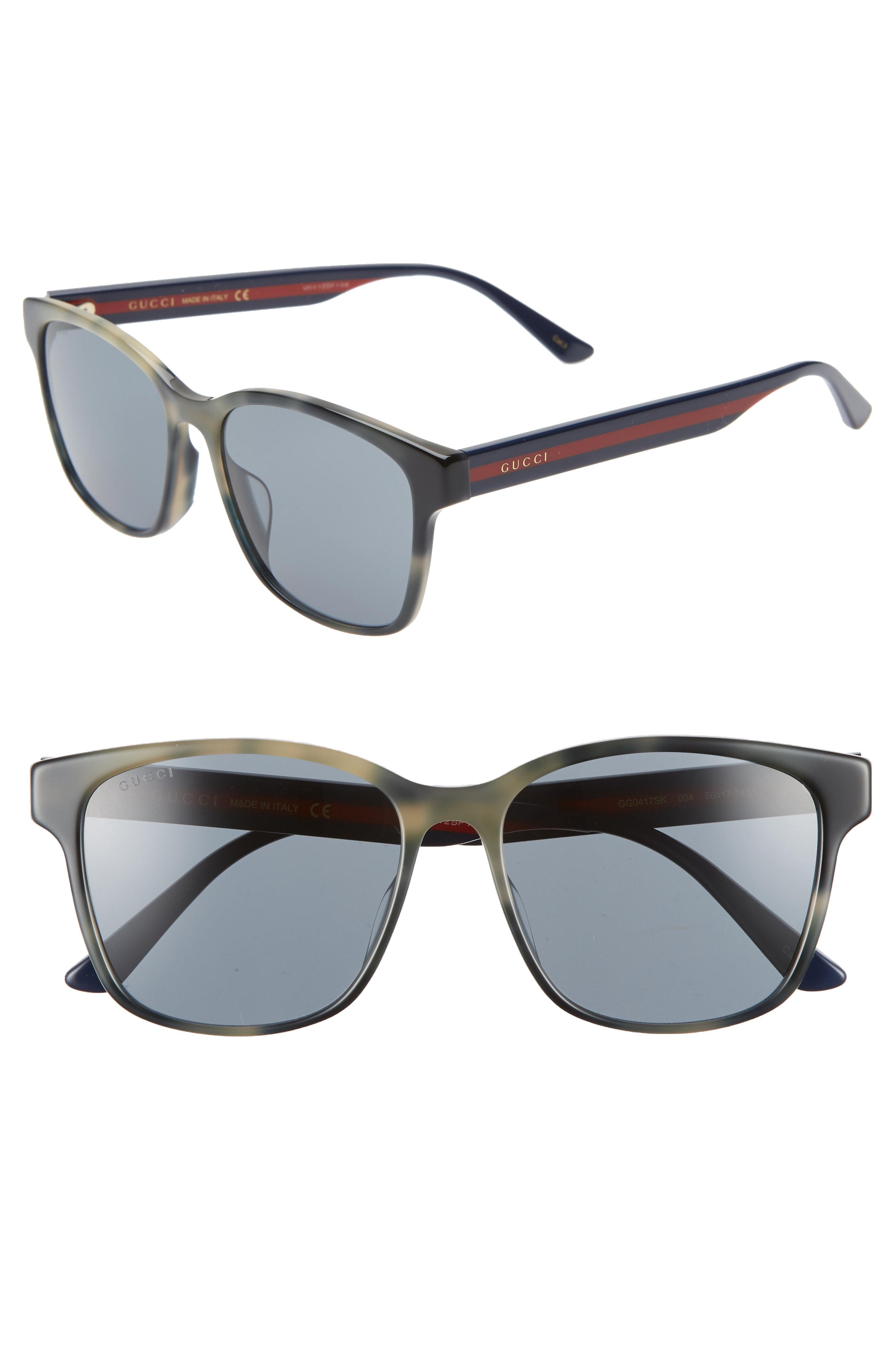 fcb76ebc5 Men's Gucci 56Mm Square Sunglasses – Grey Havana | The Fashionisto