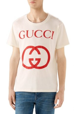 Men's Gucci New Logo T-Shirt, Size Small - Ivory