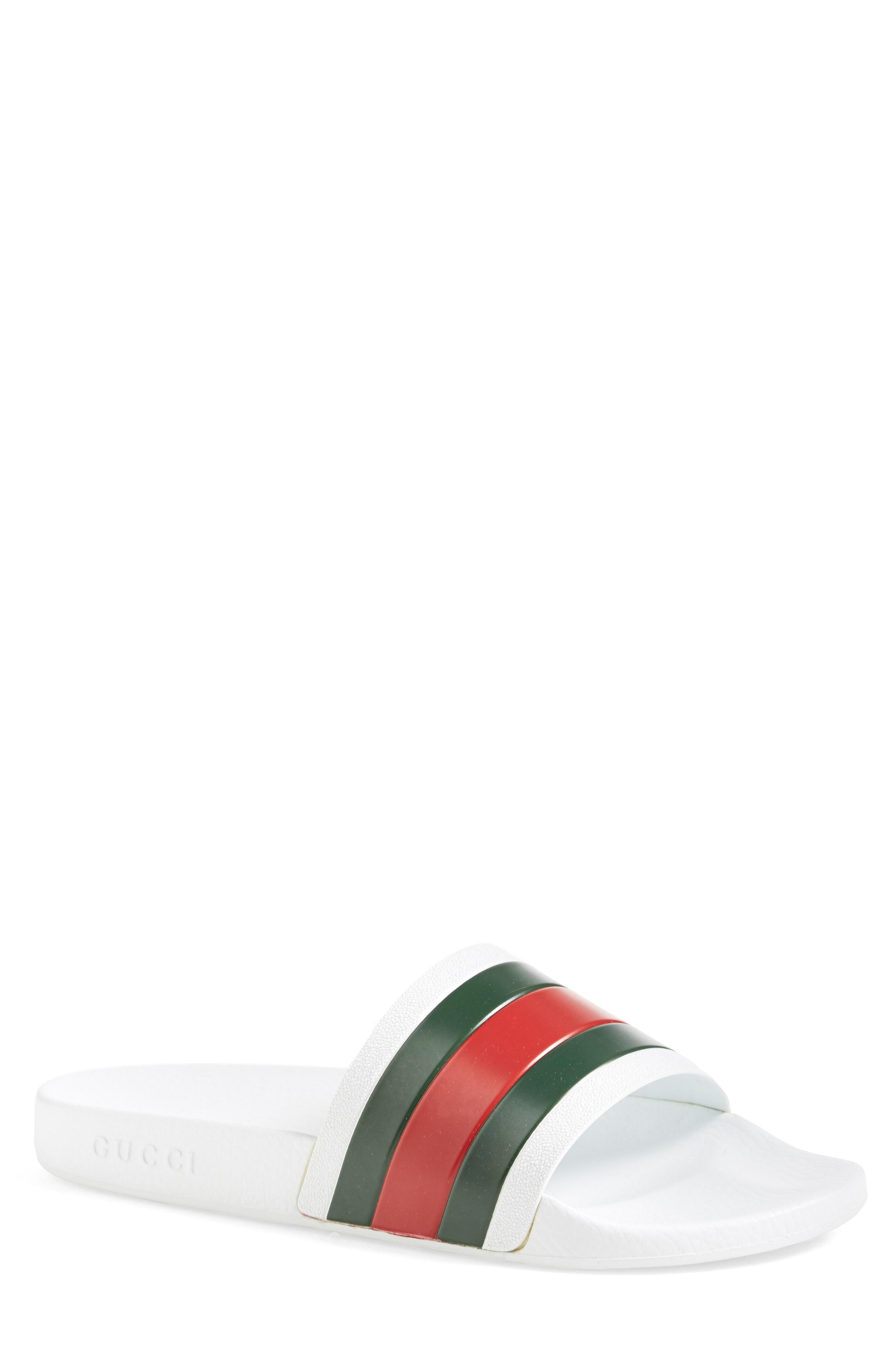 3b074f2554e Men s Gucci Pursuit Rubber Slide Sandal