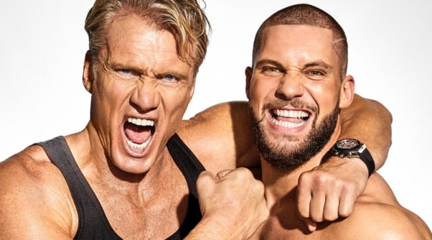 Creed II Stars Dolph Lundgren & Florian Munteanu Cover Men's Health